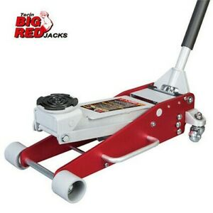 Big Red 3 Ton Tonne Professional Aluminum Lightweight Trolley Jack Low Profile