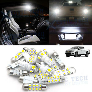 White Led Interior Reverse Light Package Kit For Chevy Colorado 2015 2020 2021