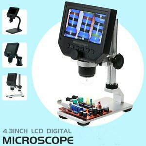 Portable 4 3 1080p 600x Lcd Monitor Electronic Digital Microscope Led Magnifier