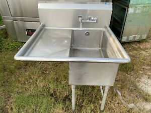 Load King Stainless Steel 39 X 37 Commercial 1 Compartment Prep Wash Sink Nsf
