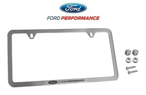 Ford Performance License Plate Frame Brushed Stainless Steel