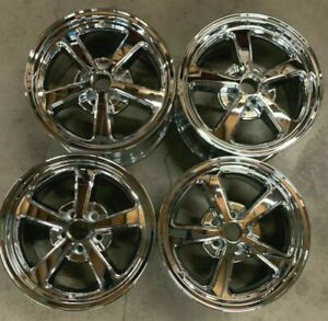 2003 2004 Ford Mustang Wheels Rims 17 Inch 5x114 3 Hollander 3523 Chrome