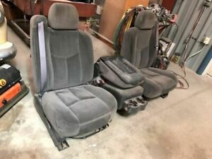 03 07 Silverado Sierra Used Front Left Power Right Manual Cloth Seats W Console