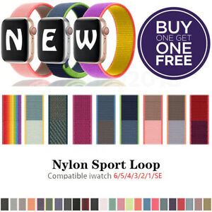 Nylon Sport Band Loop For Apple Watch iWatch Series SE 6 5 4 3 2 1 44 42 40 38mm $1.99