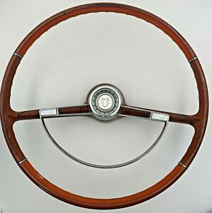 Chevrolet Chevy Ii Nova Steering Wheel With Horn Ring Button Vintage Original