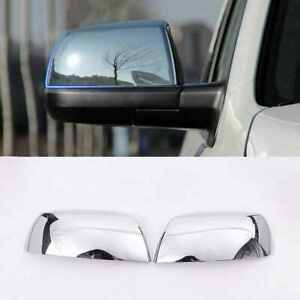 For 2007 2020 Toyota Tundra Sequoia Top Half Chrome Mirror Covers Trims