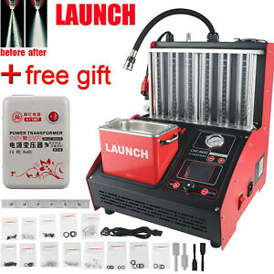 Launch Fuel Injector Cleaner Ultrasonic 6 Cylinder Clean Machine Smart Control