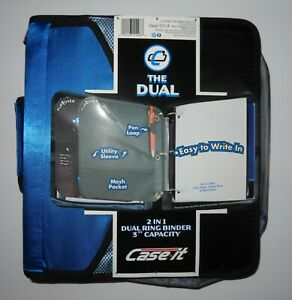 Case it The Dual 2 in 1 Ring Binder 3 Capacity New 121 a Back To School Folder