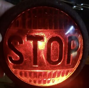 Vintage Stop Tail Light Red Glass Ls 322