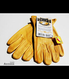 New Wells Lamont Genuine Cowhide Leather Working Gloves Medium Men s