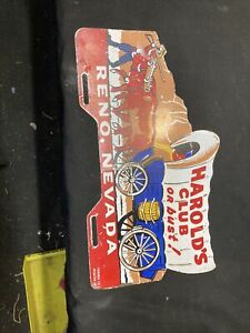 1940 s 1950 s Vintage Accessory Harolds Club License Plate Topper Bomb Lowrider