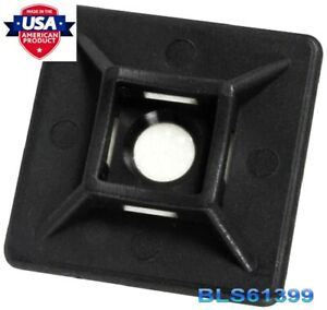 100 Cable Wire Zip Tie Adhesive Pad Mounts 1 Square Usa Tough Mounting Clips