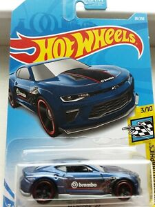 Hot Wheels 18 Camaro Ss Brembo Blue