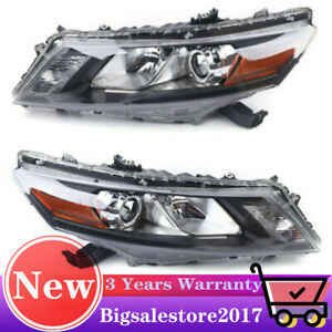 For 2010 2012 Honda Accord Crosstour 4dr Sedan Headlights Head Lamps Left right