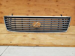 1995 1996 1997 Lexus Ls400 Chrome Grille Grill With Emblem Oem 95 96 97
