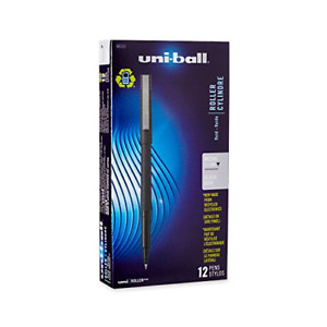 New Uni ball 60151 Roller Pens Micro Point 0 5mm Black Package Of 12 Quick