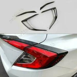 Abs Glossy Black Rear Tail Light Lamp Trim 4pcs For Honda Civic 2016 2020