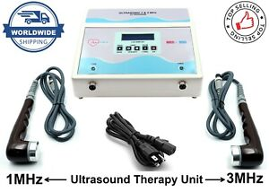 Professional Ultrasound Ultrasonic Therapy Machine Pain Relief 1mhz 3mhz Unit