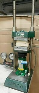 12 Ton Carver Manual 2 Post Hydraulic Lab Press W heated Platens