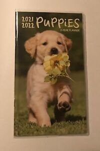 2021 2022 Two Year Monthy Pocket Planner Puppies Small Purse Calendar 4 X 6 2yr