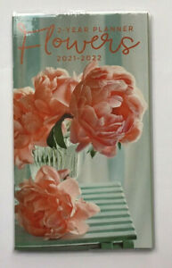 2021 2022 Two Year Monthy Pocket Planner Flowers Small Purse Calendar 4 X 6 2yr