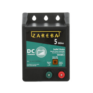 Electric Fence Charger Dc Battery Operated Fences Energizer Solid State 5 miles