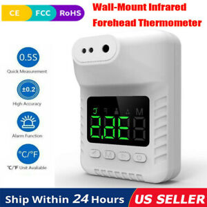 Office Non contact Digital Wall mount Infrared Forehead Thermometer Infrared