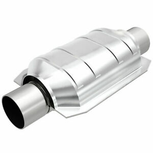 Magnaflow 91005 Universal High Flow Catalytic Converter Oval 2 25 In Out