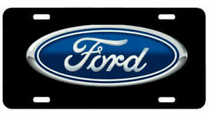 Ford License Plate New Car Tag Metal Aluminum Usa Black