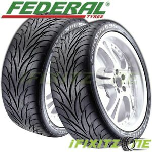 2 Federal Ss595 195 60r14 86h Ultra High Performance uhp Tires