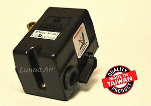 Heavy Duty Pressure Switch For Air Compressor 25 Amp 95 125 Psi 1 Port