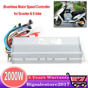 Dc 48 72v Brushless Motor Controller 2000w For E bike Electric Bicycle Scooter