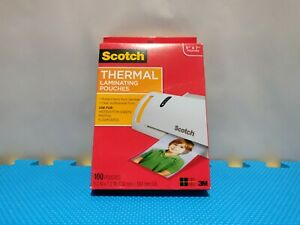 Scotch Thermal Laminating Pouches 100 pk Tp5903 100