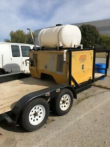 Sullair Compressor 185 Dpo jd Diesel Mounted On 18 Trailer With 200 Gal Tank
