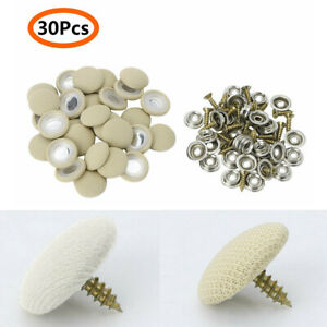 Parts Car Roof Fixing Buckle 30pcs kit Metal Checkered Beige Snap Rivets Useful