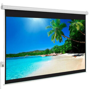 100 16 9 Material Electric Motorized Indoor Projector Screen remote Us