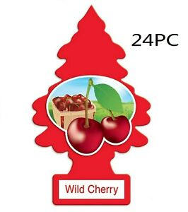 24 Little Trees Car Air Freshener Provides Lasting Scent For Auto Or Home Cherry