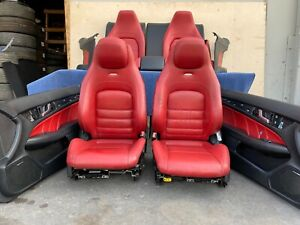 mercedes W204 C63 Coupe Complete Amg Seat Seats Cushion Door Panel Set Oem