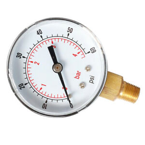 Water Pressure Dial Oil hydraulic Pressure Gauge 1 4inch Bsp Thread 0 60psi