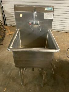 Load King Stainless Steel 21 25 Commercial 1 Compartment Prep Wash Sink Nsf