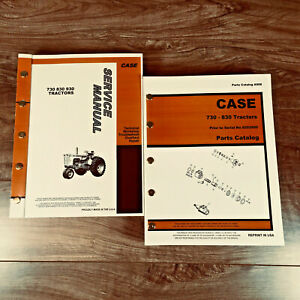 Case 730 830 Tractor Service Repair Shop Manual Parts Catalog S n Before 8253500