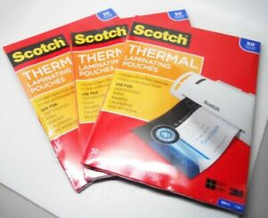 Scotch Thermal Laminating Pouches Lot Of 3 50 Count Each
