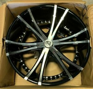 Lexani Lx12 Wheels Rims 22 Inch Blank 15mm Black Machine Single Wheel