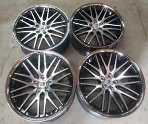 Lexani Cvx 44 Wheels Rims 20 Inch Staggered 20 35mm Machine Sil Chrome Lip