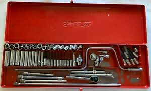 Snap on Tools 1 4 Drive Genral Service Set 64pc Sae Kra 282 Vintage Never Used