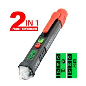 Non Contact Test Pencil 3phase Rotation Indicator Ac Voltage Detector Pen Tester
