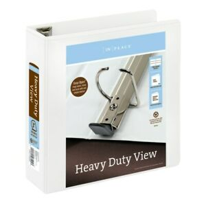 Office Depot Brand Heavy duty View 3 ring Binder 3 D rings White