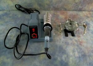 Soldering Station With Variable Temperature Settings 48w And Parts Holder