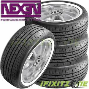 4 Nexen N Priz Ah5 205 75r15 97s White Wall All Season Tire 50000 Mile Warranty