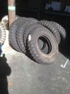 Military 9 00 20 9 00x20 Ndt 8 Ply Tire Unused And High Tread Take off Set Of 2